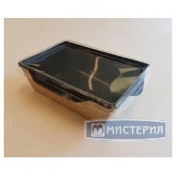 Коробка DoEco 165х120х45мм ECO OpSalad 500 Black Edition, (Салатник), коричн./черный 300 шт/кор