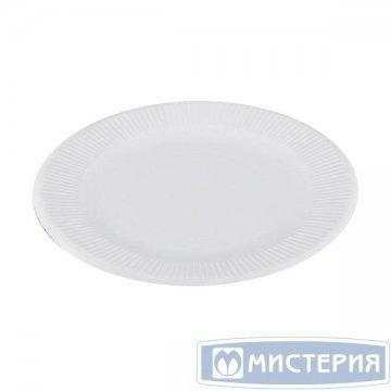 Тарелка d 190мм, 280+15г/м2, бел., мелован. картон 50 шт./уп. 1 000 шт./кор