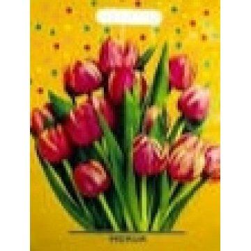 31х40+6 (30) Мешки (пакеты) с вырубленой ручкой Тико глянец Цветочный принт (50/500)