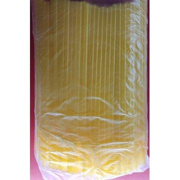 Трубочка полимерная для напитков 8*240 (1кор/20уп/250шт) желтая