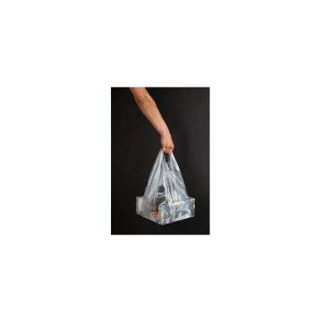 Пакет майка под пиццу 32+24х60см., 14мкм, прозрачный, ПНД 50шт./уп 1000шт./кор.