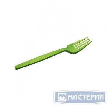 Вилка биоразлагаемая  17 см зеленая Complement 50шт/уп