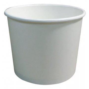 390сс (12oz)  Стакан бумажный для супа (390мл) -белый 50шт/уп 1000шт/кор