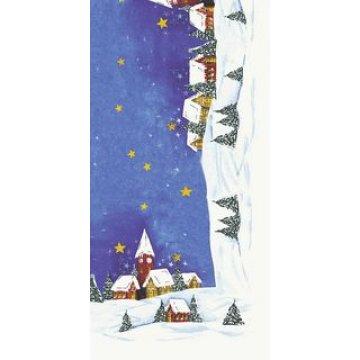 Скатерть Снежный пейзаж красн. 84x84см, бум. 1шт/уп 10 шт/кор