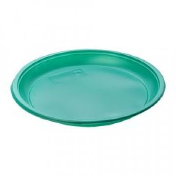 183230 Тарелка d 210мм, зеленая, ПС  12 шт/уп