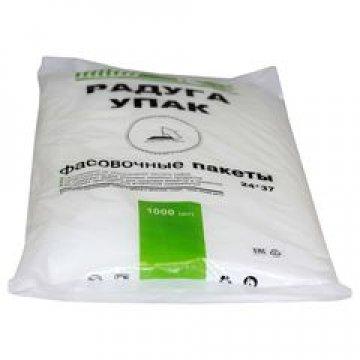 Пакет полиэтиленовый 24х37 см (евроуп.), 10 мкм 1000 шт/уп 10000 шт/кор (фасов. ПНД)