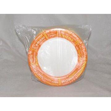 Тарелка d 230мм, 230г/м2, с рис. FIESTA, бел., картон, ламинация пленкой 100 шт/уп 1000шт/кор