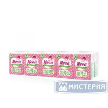 Носовые платкиNega  белые мини 2х сл.бум. 10х10 шт/уп 36 уп/кор