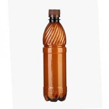 ПЭТ бутылка, коричн., 0.5 л с крышкой 100 шт/уп 100 шт/кор