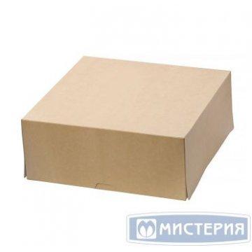 Коробка DoEco 255х255х105мм ECO CAKE 6000, коричн. 15 шт/уп 5 уп/кор