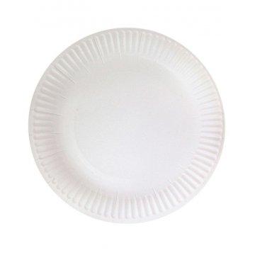 Тарелка бумажная Snack Plate SaaMi d=180мм,белая мелованная 1000шт/кор