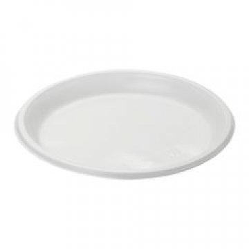 120100/ Тарелка, d 205мм, белая в проз. пленке со стикером 100 шт/уп