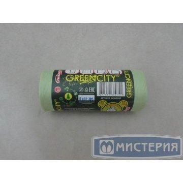 Мешок д/мусора БИОразлагаемый с завязками ушки 35л, ПВД, 24 шт/рол 1 рул/уп 45 рул/кор.