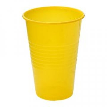 181310 Стакан хол/гор, 0.20л, желт., ПП  6шт/уп
