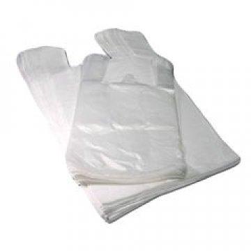 Пакет майка 25+12х45см,  ПНД, белая, 10мкм 100 шт./уп. 5000 шт/меш