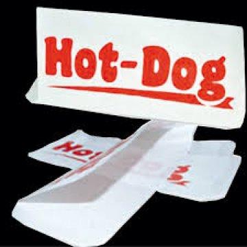 Упаковка бумажная : пакет с печатью Hot-dog 8*22см 1*500шт (30/1)
