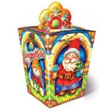 1200 г. 110/110х140/140х170 Коробка из картона Новогоднее чудо (100)