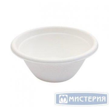 Соусник 60мл, d 67мм, h 32мм, бел., сахарный тростник 100 шт/упак 25 упак/кор
