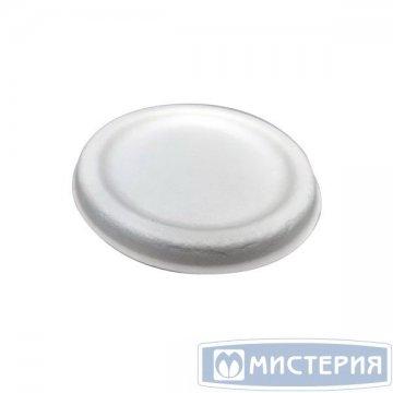 Крышка д/соусника, 60мл, d 68мм, h 7мм, бел., сахарный тростник 100 шт/упак 25 упак/кор