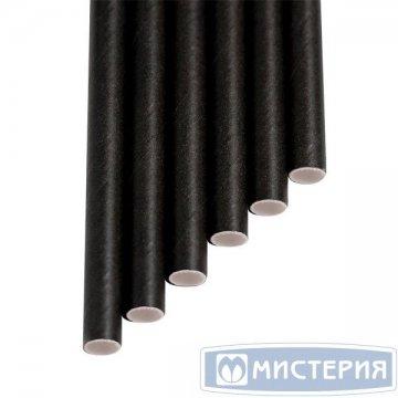 Трубочки бумажные Шварц цвет чёрный d=6мм L = 195мм 250 шт/уп 4 уп/кор