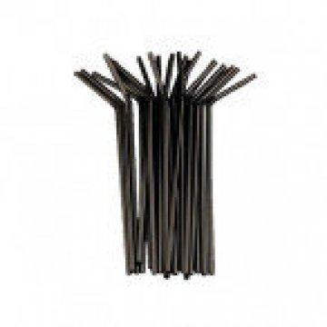 Трубочка полимерная д/напитков 5*240 гофрированная (1кор/48уп/250шт) черная