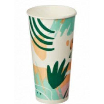 Стакан 500мл однослойный Гавайи для холодных напитков в асс. 40шт/уп 800шт/кор