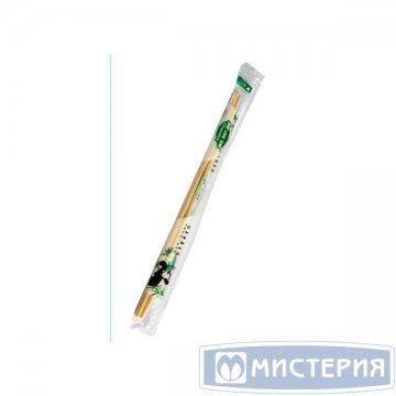 Палочки д/еды китайские,d=5мм, h 230мм, бамбук в инд. п/э 100 пар/уп 30 уп/кор