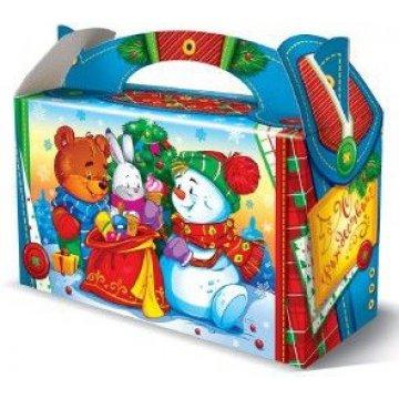 500 г. 175х70х105 Коробка НГ из картона Новогодняя (300)