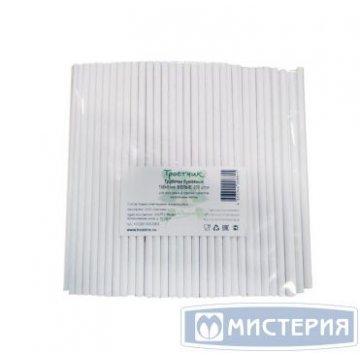 Трубочки бумажные White, цвет белый, d=6мм L = 195мм 250 шт/уп 10 уп/кор