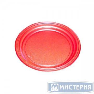 Тарелка d 205мм, красн., ПС 100 шт/упак. 2 000 шт/кор.