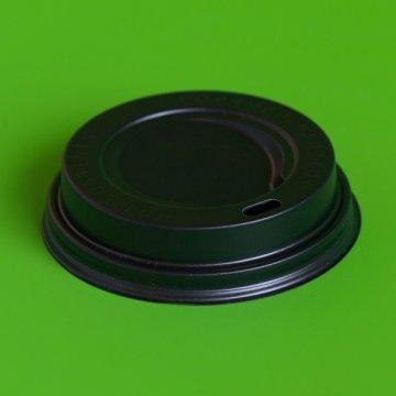 Крышка черная для стакана D-80мм с закрывающимся клапаном 100/1000 РФ