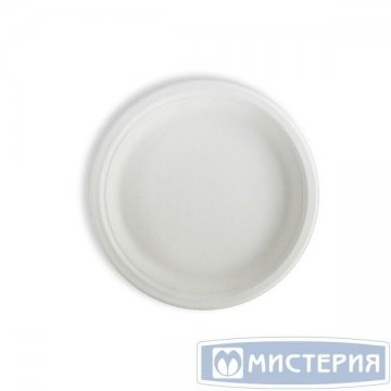 Тарелка кругл., d 228мм, целлюлоза 50 шт/упак. 350 шт/кор