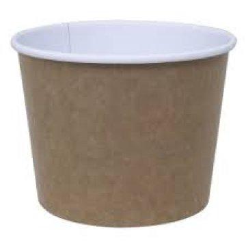 390сс (12oz)  Стакан бумажный для супа (390мл) -Крафт 1000шт/кор