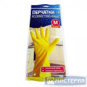 Перчатки латексные Хозяйка р-р М 1 пар/уп 240 пар/кор