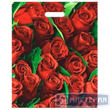 Пакет (мешок) проруб. ПВД 47х38см, 60мкм, Розы 50 шт/уп 1000 шт/кор