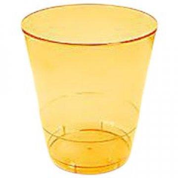181020/ Стакан д/хол  0.20л Кристалл желтый, ПС  6 шт/уп