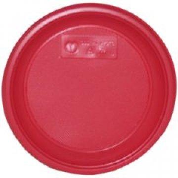 183600 Тарелка десертная красная по 12 шт в цв. пленке