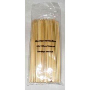 Палочки д/шашлыка, d 2.5мм, 150мм, бамбук 100 шт/уп 100 уп/кор