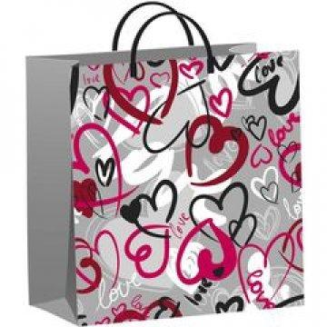 Пакет О любви-мягкий пластик 30х30 - 140 мкм 20 шт/упак 20 шт/кор