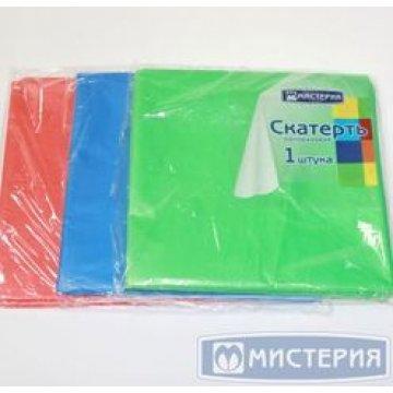 Скатерть Мистерия 120х150см однотонная цвет в ассортименте, ПЭ 1 шт/упак 200 упак/кор