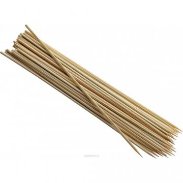 Шампуры 20см, бамбук (100)(10,000 шт/кор)