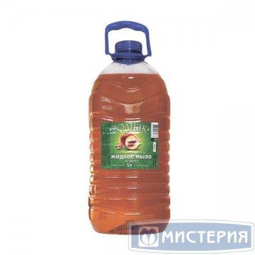 Мыло жидкое Зодиак 5л, аром. персик, прозрачн. 4 шт/уп 4 шт/кор Золушка