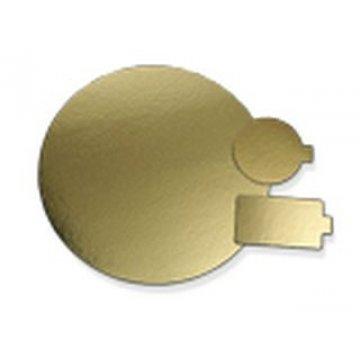 Подносы д/сервировки d=28см с золот покрыт, картон 100шт./уп