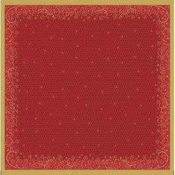 Скатерть Рождественские узоры (красный) красн. 84x84см, бум. 1шт./уп. 10 шт/кор