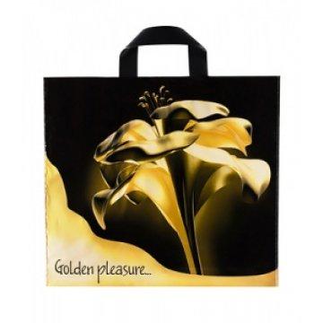 Пакет с петлевой ручкой 40х36+8 (70) Артпласт (Золотой цветок) (0,500/0,050)