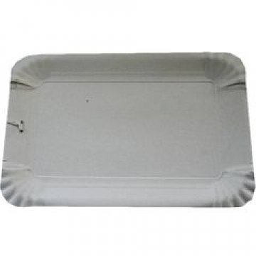 Тарелка картонная прямоугольная 130х200 мм SOLARA