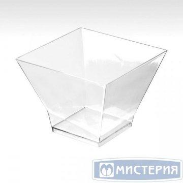 Форма д/фуршетов, 200мл, 80х80мм, Средняя пагода, прозрачн., ПС 12 шт/уп 20 уп/кор