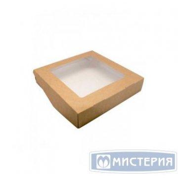 Коробка DoEco 200х200х40мм ECO TABOX 1500, с окном, коричн. 200 шт/упак 200 шт/кор