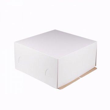 400*400*220 Крышка для картонной коробки для торта бел. до 7кг.(D-1540см)