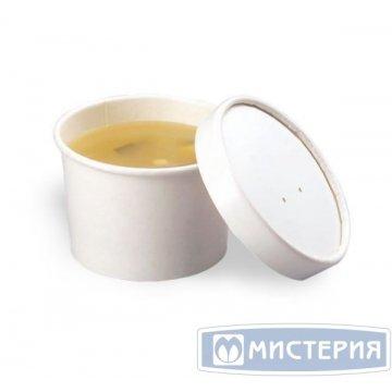 Упаковка DoEco d-75мм, h-60мм, 230мл ECO SOUP 8W, для супа, белая 25 шт/упак 250 шт./кор.